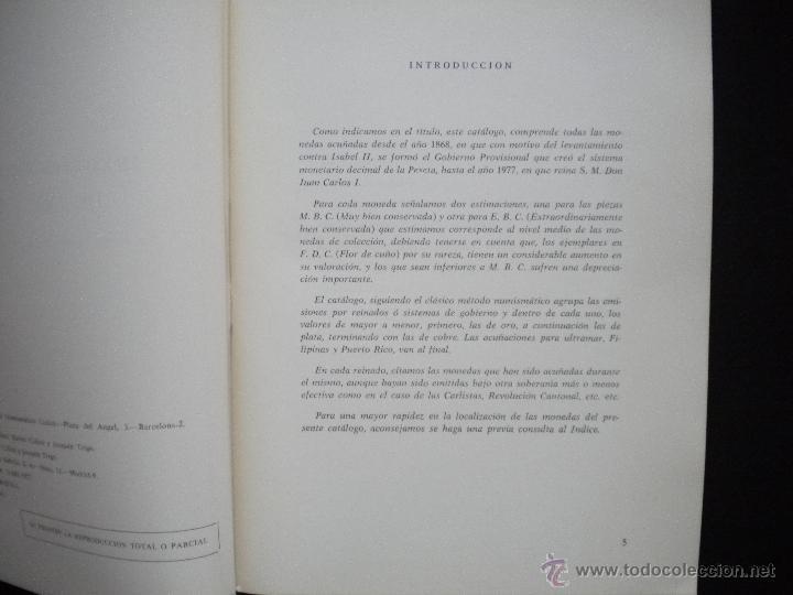 Catálogos y Libros de Monedas: PCBROS - MONEDAS ESPAÑOLAS DESDE 1868 A 1977 - FERRÁN CALICÓ - JOAQUIÍN TRIGO - 1977 - Foto 4 - 50677860
