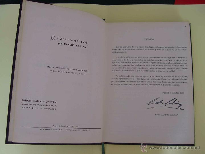 Catálogos y Libros de Monedas: Catálogo DUROS DEL MUNDO 1831-1971 (Castan, 1970). Numismática ¡Coleccionista! - Foto 4 - 51120910