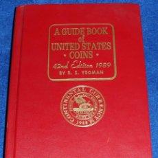 Catálogos y Libros de Monedas: A GUIDE BOOK OF UNITED STATES COINS - 42ND EDICTION - R.S.YEOMAN (1989). Lote 52310464