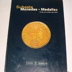 Catálogos y Libros de Monedas: ADOLFO, CLEMENTE Y JUAN CAYÓN. SUBASTA MONEDAS. MEDALLAS. CATÁLOGO. RM71671. . Lote 52320331