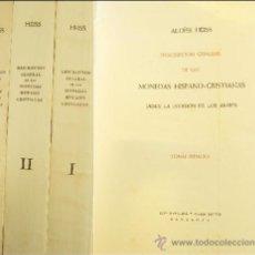 Catálogos y Libros de Monedas - HEISS, A. Descripción General de las Monedas Hispano - Cristianas desde la Invasión de los Árabes. - 142076580