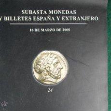 Catálogos y Libros de Monedas: SUBASTAS MONEDAS Y BILLETES. Lote 53618381