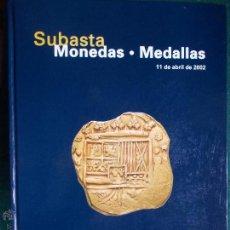Catálogos y Libros de Monedas: CATALOGO DE SUBASTAS MONEDAS Y MEDALLAS TAPAS DURAS. Lote 53618420