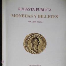 Catálogos y Libros de Monedas: CATALOGO DE MONEDAS Y BILLETES DE SUBASTAS. Lote 53618514
