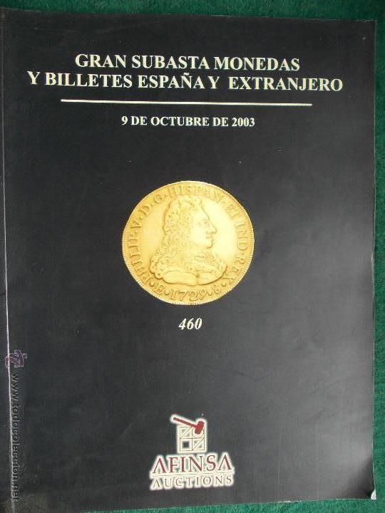CATALOGO SUBASTAS MONEDAS (Numismática - Catálogos y Libros)