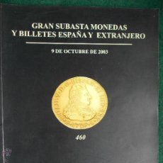 Catálogos y Libros de Monedas: CATALOGO SUBASTAS MONEDAS. Lote 53655260