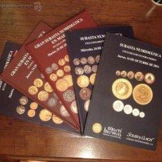 Catálogos y Libros de Monedas: LOTE DE 5 CATÁLOGOS DE SUBASTA NUMISMÁTICA MARTI HERVERA - SOLER SOBRE MONEDAS, BILLETES Y MEDALLAS. Lote 53685899