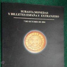 Catálogos y Libros de Monedas: CATALOGO DE SUBASTAS MONEDAS. Lote 53717618