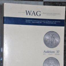 Catálogos y Libros de Monedas: CATALOGO DE SUBASTAS DE NUMISMATICA ALEMANIA AÑO 2006 , WAG WESTFÄLISCHE. Lote 54097055