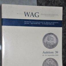 Catálogos y Libros de Monedas: CATALOGO DE SUBASTAS DE NUMISMATICA ALEMANIA AÑO 2006 , WAG WESTFÄLISCHE. Lote 54097062
