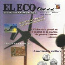 Catálogos y Libros de Monedas: EL ECO FILATÉLICO Y NUMISMÁTICO NRO.1204 FEBRERO 2012 REVISTA - VER SUMARIO. Lote 54164132