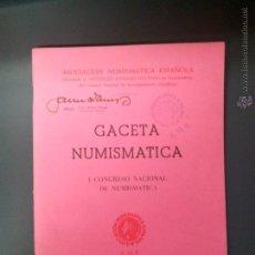 Catálogos y Libros de Monedas: ASOCIACION NUMISMATICA ESPAÑOLA, GACETA NUMISMATICA, 1972.. Lote 54199249