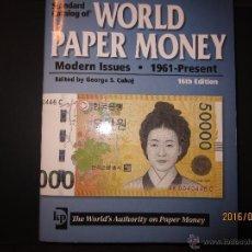 Catálogos y Libros de Monedas - CATALOGO WORLD PAPER MONEY 1961 AL PRESENTE - 16 EDICION 1112 PAGINAS EBC - 54432484