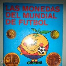 Catálogos y Libros de Monedas: ANTIGUO CATÁLOGO - LAS MONEDAS DEL MUNDIAL DE FUTBOL ESPAÑA 82 - JUAN R. CAYON / CARLOS CASTAN. Lote 54892297