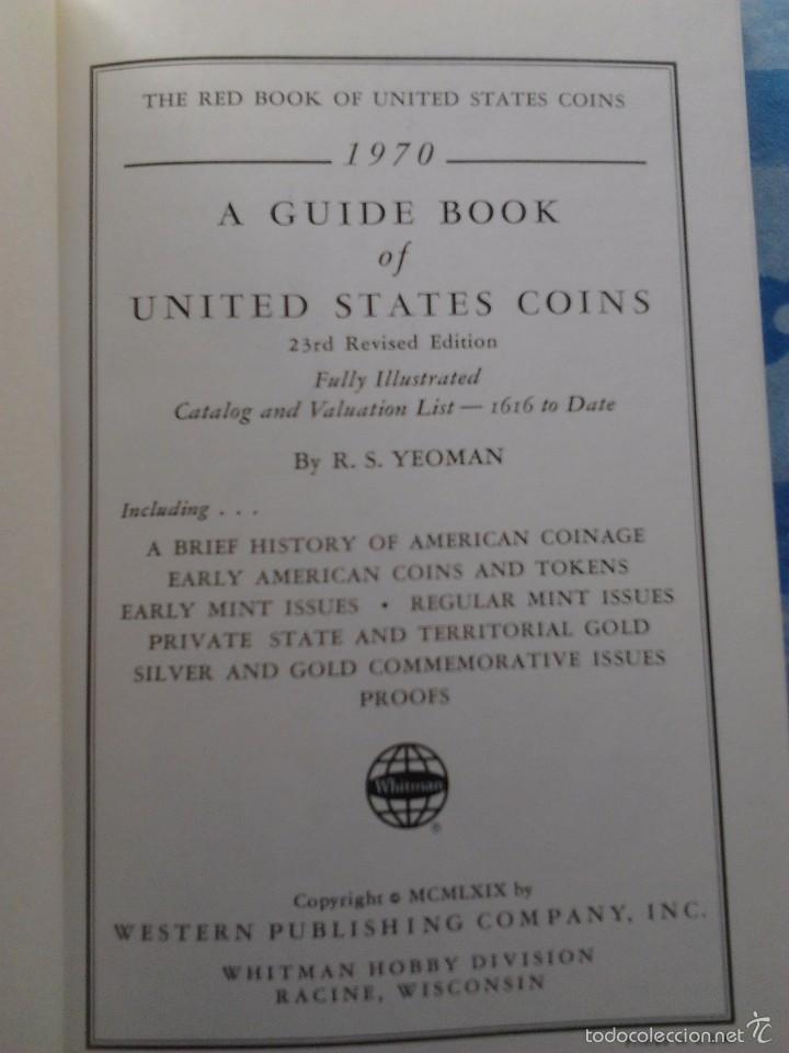 Catálogos y Libros de Monedas: (2) GUIDE BOOK OF UNITED STATES COINS, R.S. YEOMAN,1970- PREMIUM GUIDE BOOK EEUU&CANADA, HARRIS-1965 - Foto 2 - 55210059
