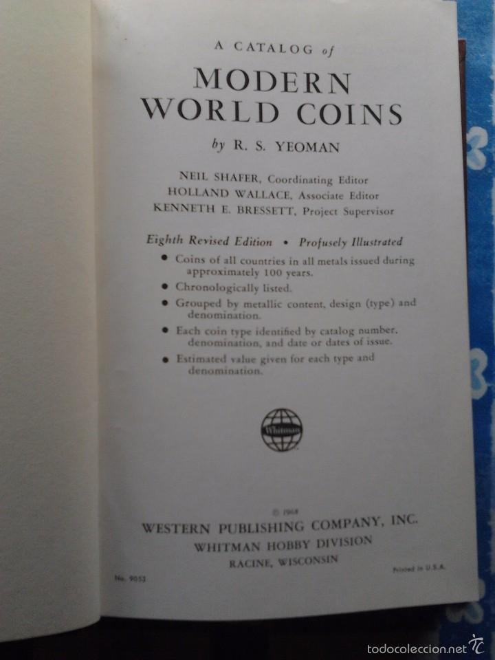 Catálogos y Libros de Monedas: A CATALOG OF MODERN WORLD COINS, R.S.YEOMAN, SIXTH (1964) & EIGHTH EDITION (1968), - Foto 4 - 55378176