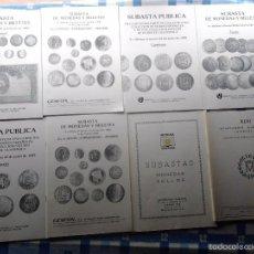 Catalogs and Coin Books - 38 CATALOGOS-SUBASTA MONEDAS AÑOS 70-80, GESFON, IBERGOLD, ALEDON, CASTAN, CAYON, GARCIA, ARCANOS,. - 56058419