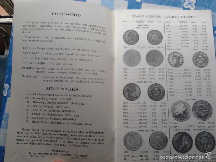 Catálogos y Libros de Monedas: (2) GUIDE BOOK OF UNITED STATES COINS, R.S. YEOMAN,1970- PREMIUM GUIDE BOOK EEUU&CANADA, HARRIS-1965 - Foto 6 - 55210059