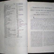 Catálogos y Libros de Monedas: LICINIANO SAEZ: DEMOSTRACION HISTORICA ... VALOR DE TODAS LAS MONEDAS QUE CORRIAN EN CASTILLA 1805. Lote 56117155
