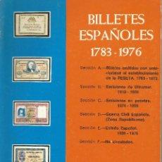 Catálogos y Libros de Monedas: BILLETES ESPAÑOLES 1783 1976. Lote 56327832