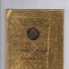 Catálogos y Libros de Monedas: CATALOGO 4ª VENTA PÚBLICA OCTUBRE 1968 JUAN R. CAYÓN MONEDAS Y MEDALLAS ANTIGUO. Lote 57107056