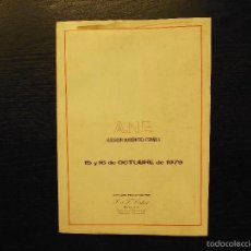 Catálogos y Libros de Monedas: ASOCIACION NUMISMATICA ESPAÑOLA, CALICO, 15 Y 16 OCTUBRE 1979. Lote 57269561