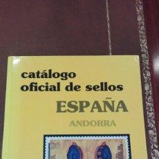 Catálogos y Libros de Monedas: CATALOGO OFICIAL DE SELLOS ESPAÑA Y ANDORRA 1989. Lote 59632579