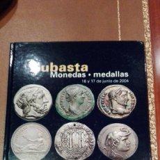 Catálogos e Livros de Moedas: CATALOGO SUBASTA DE CAYON DE MONEDAS Y MEDALLAS.JUNIO 2004. Lote 59663679