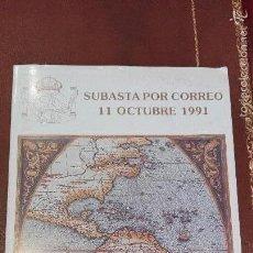 Catálogos y Libros de Monedas: SUBASTA CENTRO NUMISMATICO VALENCIA.OCTUBRE 1991. Lote 59913407