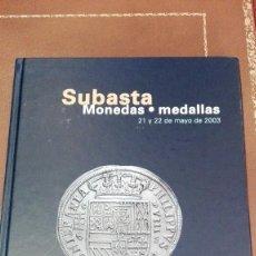 Catálogos y Libros de Monedas: CATALOGO SUBASTA DE CAYON, MONEDAS, MEDALLAS.MAYO 2003. Lote 59916411