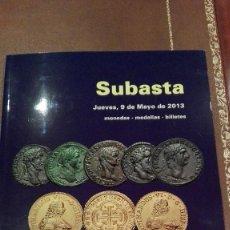Catálogos y Libros de Monedas: CATALOGO SUBASTA DE CAYON, MONEDAS, BILLETES Y MEDALLAS.MAYO 2013. Lote 59939931