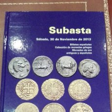 Catálogos y Libros de Monedas: CATALOGO SUBASTA DE CAYON.NOVIEMBRE 2013. Lote 59991395