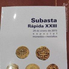 Catalogues et Livres de Monnaies: CATALOGO SUBASTA DE CAYON, MONEDAS Y MEDALLAS.ENERO 2015. Lote 59991919