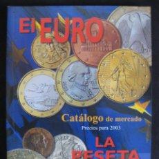 Catálogos y Libros de Monedas: CATÁLOGO DE MERCADO 2003 EL EURO - LA PESETA (JOSÉ MARÍA ALEDÓN). Lote 194569915