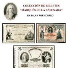 Catálogos y Libros de Monedas: SUBASTA BILLETES MARQUES DE LA ENSENADA CON PRECIOS DE ADJUDICACIÓN. Lote 61849004