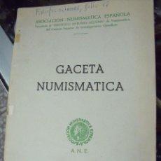 Catálogos y Libros de Monedas: GACETA NUMISMATICA A.N.E N 9 JUNIO 1968. Lote 62147056