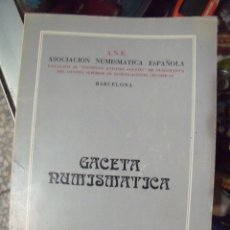 Catálogos y Libros de Monedas: GACETA NUMISMATICA A.N.E N 56 MARZO 1980. Lote 62148340