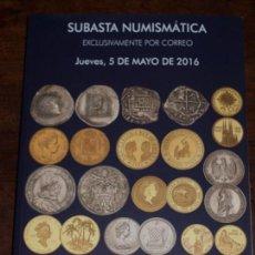 Catálogos y Libros de Monedas: CATALOGO GRAN SUBASTA NUMISMATICA SOLER Y LLACH MARTI HERVERA. 5 MAYO 2016.EXCLUSIVAMENTE POR CORREO. Lote 62236612