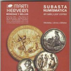 Catálogos y Libros de Monedas - CATALOGO SUBASTA NUMISMATICA. - 62393028