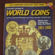 CATALOGO DE MONEDAS DEL MUNDO 1801 - 1900. KP WORLD COINS KRAUSE. 1152 PAGINAS