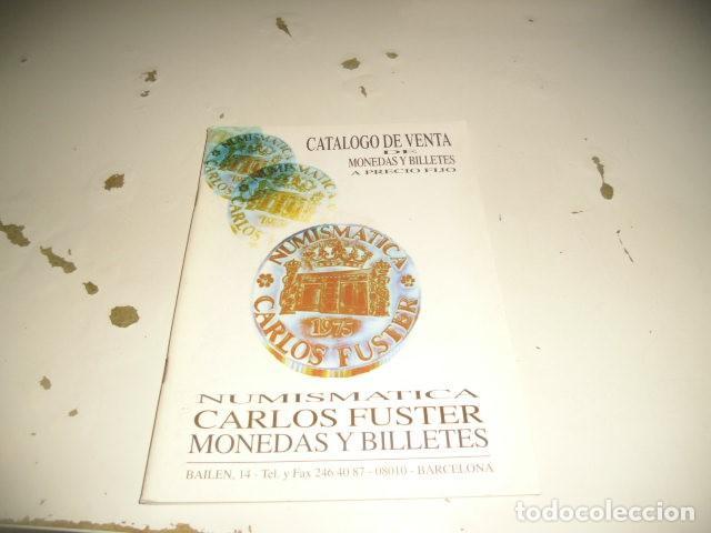 BAL-14 18 NUMISMATICA CARLOS FUSTER MONEDAS Y BILLETES MARZO 1996 (Numismática - Catálogos y Libros)