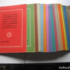 Catálogos y Libros de Monedas: 17 BOLETINES DE LA EXPOSICION NUMISMATICA DE MADRID - 1951. Lote 63126764