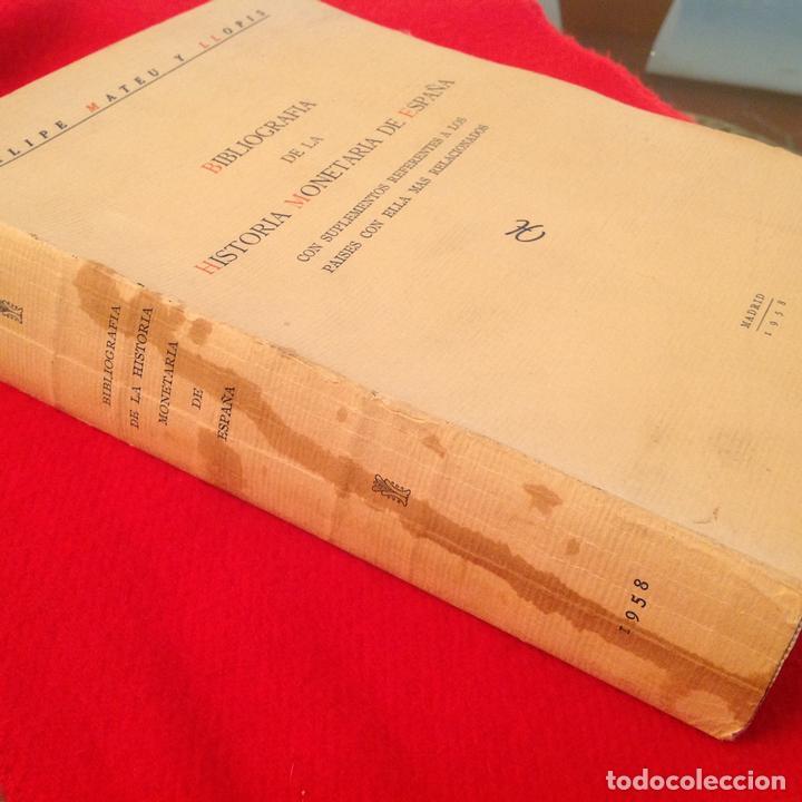 Catálogos y Libros de Monedas: Bibliografía de la historia monetaria de España, de Felipe Mateu y Llopis, 1958, FNMT, Madrid. - Foto 4 - 57750422