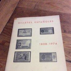 Catálogos y Libros de Monedas: LIBRO DE BILLETES ENTRE 1808 1974 JOSÉ A.VICENTI VII EDICIÓN 1974. Lote 69100270