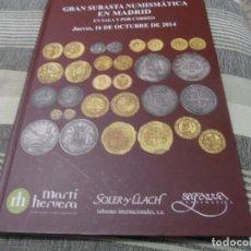 Catálogos y Libros de Monedas: EXCELENTE SUBASTA ESPAÑOLA CON MONEDAS SELECTAS. TAPAS DURAS.. Lote 69495881