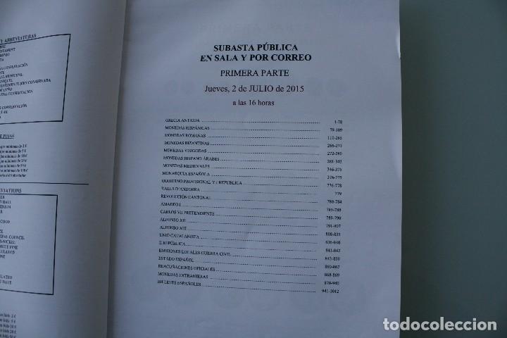 Catálogos y Libros de Monedas: COMPLETO LIBRO CATALOGO GRAN SUBASTA NUMISMATICA – CONOCER VALOR MONEDAS Y BILLETES - VER INDICE - Foto 2 - 72393755
