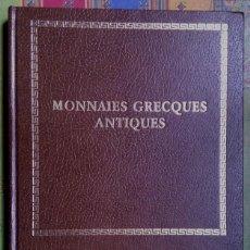 Catálogos y Libros de Monedas: CATALOGO DE SUBASTA DE MONNAIES GRECQUES ANTIQUES ¡¡SUPERLUJO!!. Lote 73996051