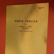 Catálogos y Libros de Monedas: CATÁLOGO EXPOSICIÓN NUMISMÁTICA - JUAN R. CAYON - JUEVES 31 DE MAYO DE 1979 - 18/79. Lote 74162591