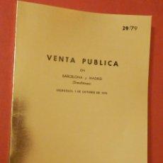 Catálogos y Libros de Monedas: CATÁLOGO EXPOSICIÓN NUMISMÁTICA - JUAN R. CAYON - MIERCOLES 3 DE OCTUBRE DE 1979 - 29/79. Lote 74162687