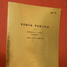 Catálogos y Libros de Monedas: CATÁLOGO EXPOSICIÓN NUMISMÁTICA - JUAN R. CAYON - JUEVES 19 DE JULIO DE 1979 - 25/79. Lote 74162867